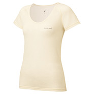 Super Merino Wool Light Weight U-Neck T-Shirt Women's