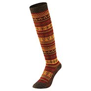 Merino Wool Jacquard High Socks Women's