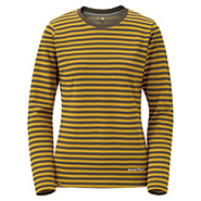 Merino Wool Plus Striped Long Sleeve T Women's